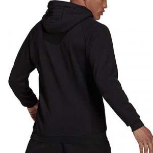 Sudadera adidas United Travel Hoodie - Sudadera con capucha de algodón adidas del Manchester United - negra