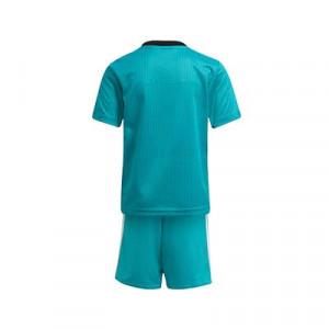 Equipación adidas 3a Real Madrid niño pequeño 2021 2022 - Conjunto infantil 1-6 años segunda equipación adidas Real Madrid CF 2021 2022 - verde turquesa