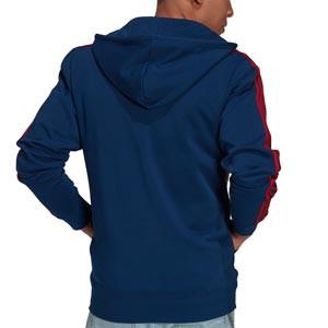 Sudadera adidas Arsenal 3 stripes Hoodie - Sudadera con capucha de algodón adidas del Arsenal - azul marino