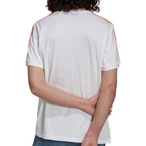 Camiseta adidas Real Madrid 3 Stripes - Camiseta de algodón adidas del Real Madrid CF - blanca