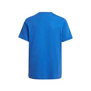 Camiseta adidas Real Madrid niño - Camiseta de manga corta de algodón infantil adidas del Real Madrid CF - azul