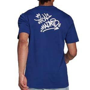 Camiseta adidas Real Madrid Street - Camiseta de manga corta de algodón adidas del Real Madrid CF - azul marino