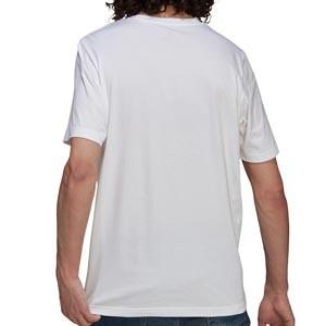 Camiseta adidas Real Madrid - Camiseta de manga corta de algodón adidas del Real Madrid CF - blanca