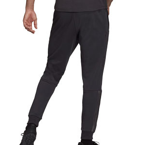 Pantalón adidas Real Madrid Travel - Pantalón largo para paseo de algodón adidas del Real Madrid CF - gris
