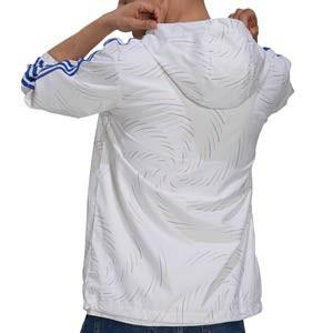 Cortavientos adidas Real Madrid Windbreaker - Chaqueta cortavientos con capucha adidas del Real Madrid CF - blanca