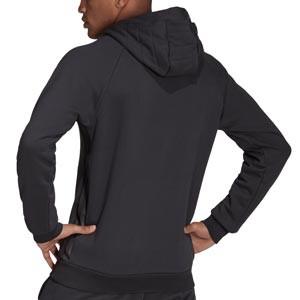 Sudadera adidas Real Madrid Hoodie - Sudadera de algodón con capucha de paseo adidas del Real Madrid CF - gris oscura