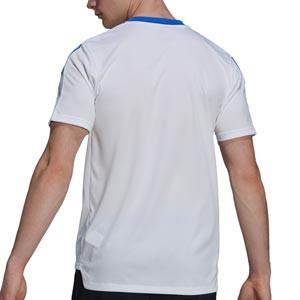 Camiseta adidas Real Madrid entrenamiento - Camiseta manga corta entrenamiento para entrenadores adidas Real Madrid CF - blanca - completa trasera