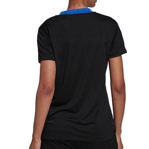 Camiseta adidas Real Madrid mujer entrenamiento - Camiseta manga corta entrenamiento mujer adidas Real Madrid CF - negra - completa trasera