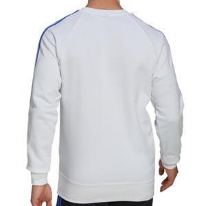 Sudadera adidas Real Madrid entrenamiento - Sudadera de algodón de entrenamiento para entrenadores adidas del Real Madrid CF - blanca - completa trasera
