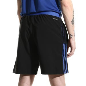 Short adidas Real Madrid Downtime - Pantalón corto de paseo adidas del Real Madrid CF - negro - completa trasera