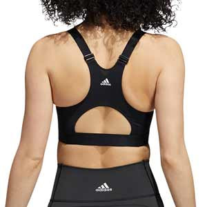 Sujetador deportivo adidas AlphaSkin con relleno - Sujetador deportivo de alto impacto con relleno adidas de mujer para fútbol - negro