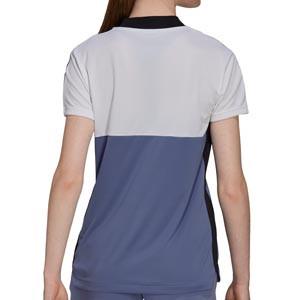 Camiseta adidas Tiro mujer - Camiseta de entrenamiento de fútbol para mujer adidas de la colección Tiro - blanca, lila