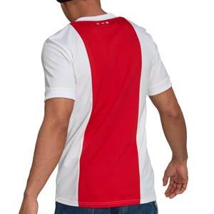 Camiseta adidas Ajax 2021 2022 - Camiseta primera equipación adidas del Ajax de Ámsterdam 2021 2022 - roja y blanca - completa trasera
