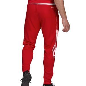 Pantalón adidas Ajax entrenamiento - Pantalón largo de entrenamiento adidas del Ajax - rojo - trasera