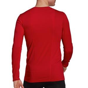 Camiseta adidas Techfit - Camiseta entrenamiento compresiva manga larga adidas Techfit - roja