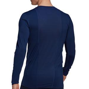 Camiseta adidas Techfit - Camiseta entrenamiento compresiva manga larga adidas Techfit - azul marino