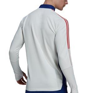 Sudadera adidas Olympique Lyon entrenamiento - Sudadera de entrenamiento adidas del Olympique de Lyon - blanca