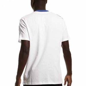 Camiseta algodón adidas Real Madrid entrenamiento - Camiseta manga corta de algodón entrenamiento para entrenadores adidas Real Madrid CF - blanca - completa trasera