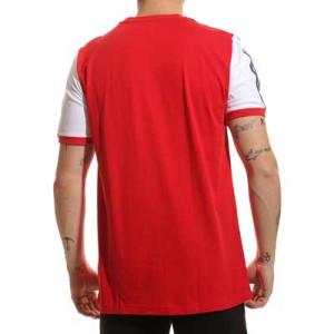 Camiseta algodón adidas Arsenal 3 Stripes - Camiseta de algodón adidas del Arsenal FC - roja y blanca