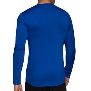 Camiseta adidas Techfit - Camiseta entrenamiento compresiva manga larga adidas Techfit - azul