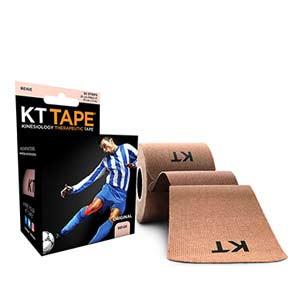 Cinta kinesiológica KT Tape Original precortada - Tira muscular kinesiológica KT Tape (5 cm x 5 m) - carne - trasera