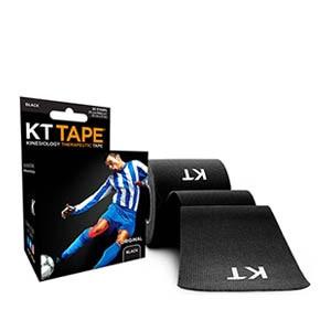 Cinta kinesiológica KT Tape Original precortada - Tira muscular kinesiológica KT Tape (5 cm x 5 m) - negra - trasera