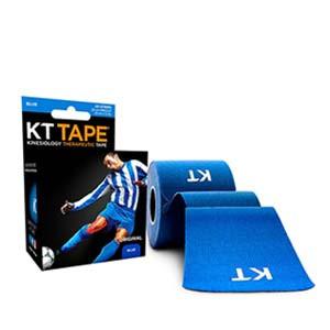 Cinta kinesiológica KT Tape Original precortada - Tira muscular kinesiológica KT Tape (5 cm x 5 m) - azul - trasera