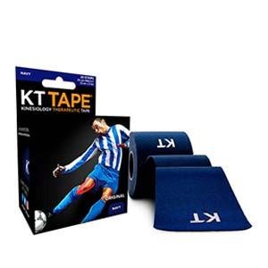 Cinta kinesiológica KT Tape Original precortada - Tira muscular kinesiológica KT Tape (5 cm x 5 m) - azul marino - trasera