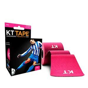 Cinta kinesiológica KT Tape Original precortada - Tira muscular kinesiológica KT Tape (5 cm x 5 m) - rosa - trasera