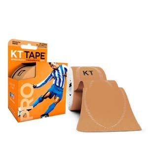 Cinta kinesiológica KT Tape Pro precortada - Tira muscular kinesiológica KT Tape (5 cm x 5 m) - carne - trasera