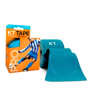 Cinta kinesiológica KT Tape Pro precortada - Tira muscular kinesiológica KT Tape (5 cm x 5 m) - azul celeste - trasera