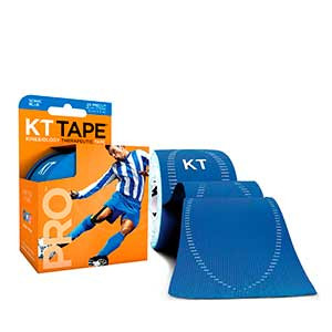 Cinta kinesiológica KT Tape Pro precortada - Tira muscular kinesiológica KT Tape (5 cm x 5 m) - azul - trasera