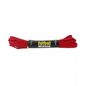 Cordones infantiles planos y finos futbolmania - Cordones para botas de fútbol infantiles (90 cm de largo x 5 mm de ancho) - rojos - detalle