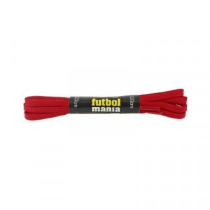 Cordones planos y finos futbolmania - Cordones para botas fútbol (120 cm de largo x 5 mm de ancho) - rojos - detalle