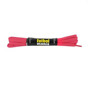 Cordones planos y finos futbolmania - Cordones para botas fútbol (120 cm de largo x 5 mm de ancho) - rosas - detalle
