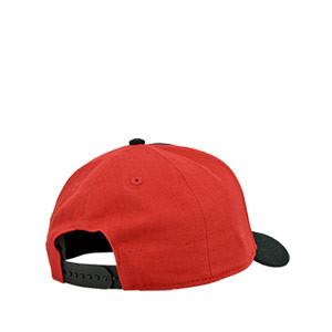 Gorra New Balance Athletic Club Visera Sport - Gorra New Balance del Athletic Club - negra y roja
