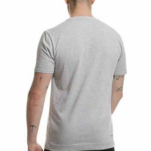 Camiseta New Balance Athletic Club Graphic Travel - Camiseta de algodón New Balance del Athletic Club de Bilbao - gris