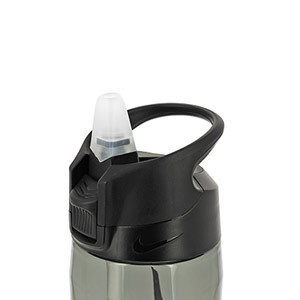 Botellín Nike Hypercharge Straw 500 ml - Botellín de agua para entrenamiento Nike de 500 ml - gris