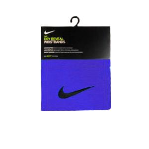 Muñequeras Nike Dri-Fit Reveal - Muñequeras rizo Nike 2 unidades - azules - frontal
