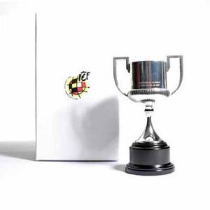 Mini Copa RFEF Copa del Rey 150 mm - Figura réplica con pedestal copa RFEF Copa del Rey 150 mm - plateada