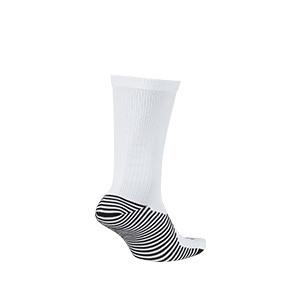 Calcetines media caña Nike Squad - Calcetines media caña para entrenamiento fútbol Nike - blancos - trasera