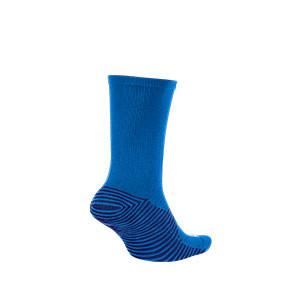 Calcetines media caña Nike Squad - Calcetines media caña para entrenamiento fútbol Nike - azules - trasera