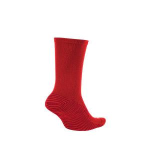 Calcetines media caña Nike Squad - Calcetines media caña para entrenamiento fútbol Nike - rojos - trasera