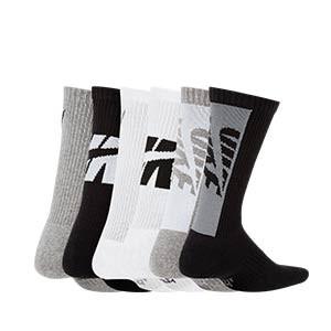 Calcetines Nike Everyday Crew 3 pares acolchados niño - Pack 3 calcetines media caña acolchados infantiles Nike - multicolor