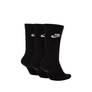 Calcetines media caña Nike Everyday Essential 3 pares - Pack de 3 calcetines Nike de media caña - negros - frontal