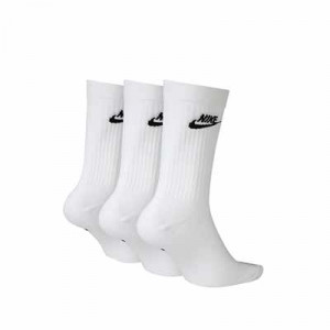 Calcetines media caña Nike Everyday Essential pack 3 - Pack de 3 calcetines Nike de media caña - blancos - trasera