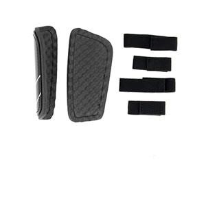 Espinilleras Nike Mercurial Hard Shell - Espinilleras de fútbol Nike con cintas de velcro - negras