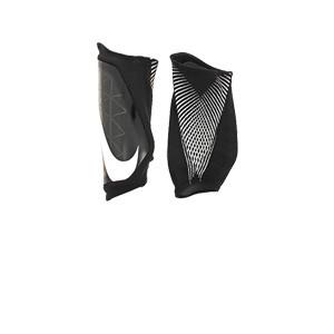 Nike Protegga - Espinilleras de fútbol Nike con mallas - negras - trasera