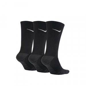 Calcetines media caña Nike Everyday Max Cushioned pack 3 - Pack 3 calcetines media caña acolchados Nike - negros - trasera