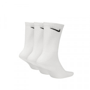 Calcetines Nike Everyday 3 pares finos - Pack de 3 calcetines media caña finos Nike - blancos - trasera